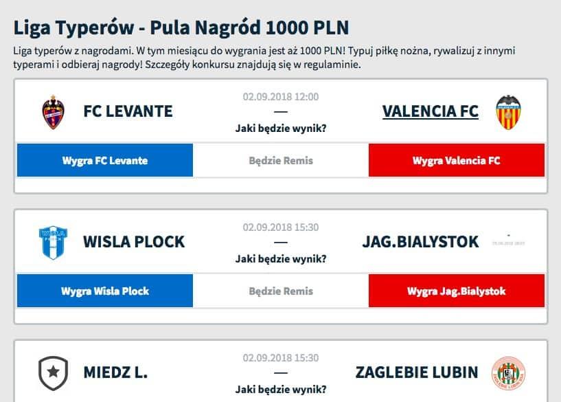 Liga typerów 1000 PLN w puli!