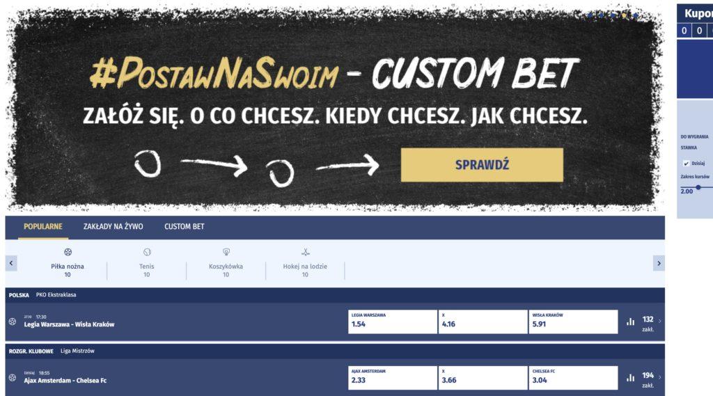 Ewinner custom bet i nie tylko. Aktualna oferta