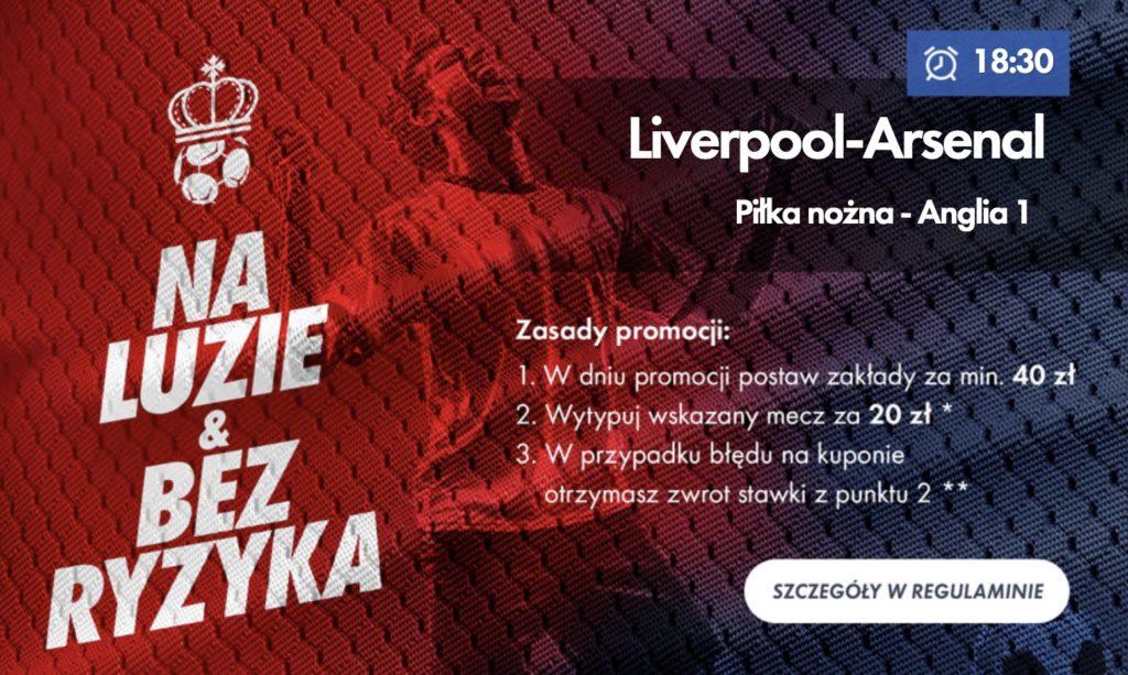 Zwrot na mecz Liverpool - Arsenal w Milenium!