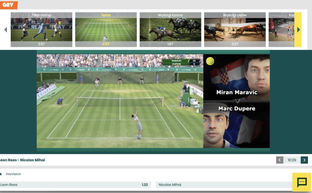Betfan wirtualny tenis